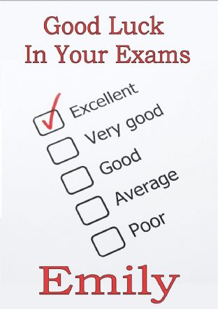 Good Luck Exams Card Design 3